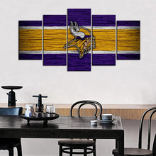 Load image into Gallery viewer, Minnesota Vikings Wooden Look Canvas