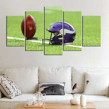 Load image into Gallery viewer, Minnesota Vikings Helmet 5 Pieces Wall Painting Canvas