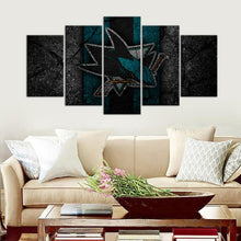 Load image into Gallery viewer, San Jose Sharks Rock Style 5 Pieces Wall Painting Canvas