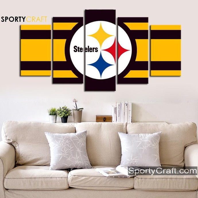 Pittsburgh Steelers Clean Logo Canvas