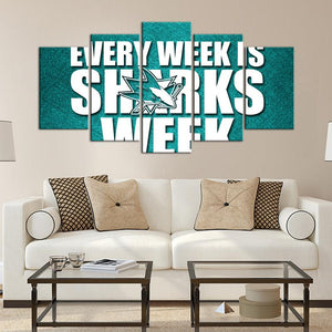 San Jose Sharks Week Canvas