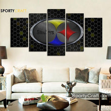 Load image into Gallery viewer, Pittsburgh Steelers Steal Logo Canvas