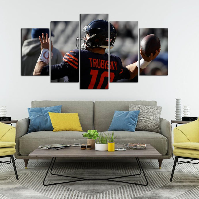 Chicago Bears Mitch Trubisky Canvas
