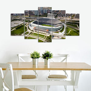 Chicago Bears Stadium From Sky Canvas