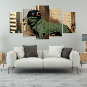 Chicago Bears Statue Canvas