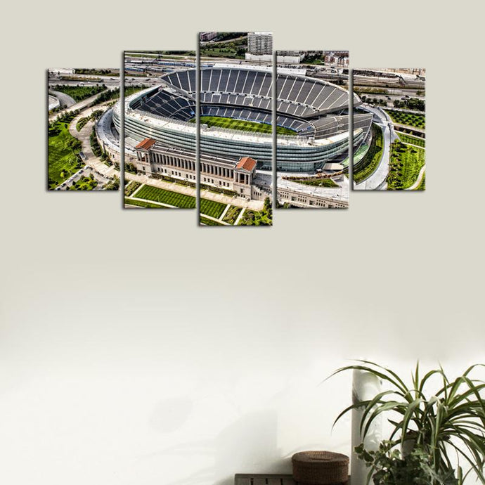 Chicago Bears Stadium From Above Canvas