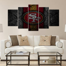 Load image into Gallery viewer, San Francisco 49ers Rock Style 5 Pieces Wall Painting Canvas