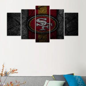 San Francisco 49ers Rock Style Canvas