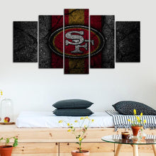 Load image into Gallery viewer, San Francisco 49ers Rock Style Canvas