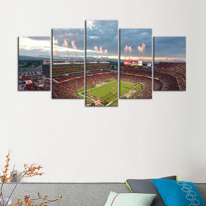 San Francisco 49ers Stadium 5 Pieces Wall Painting Canvas