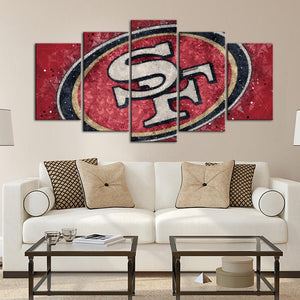 San Francisco 49ers Techy Style 5 Pieces Wall Painting Canvas