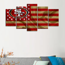 Load image into Gallery viewer, San Francisco 49ers American Flag Canvas