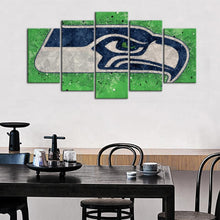 Load image into Gallery viewer, Seattle Sea Hawks Techy Style Canvas