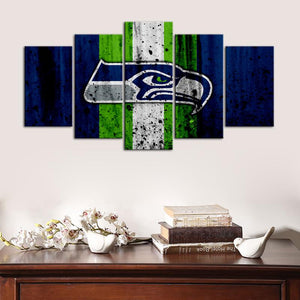Seattle Seahawks Rough Look Wall Canvas