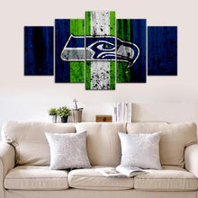 Load image into Gallery viewer, Seattle Sea Hawks Rough Look 5 Pieces Wall Painting Canvas