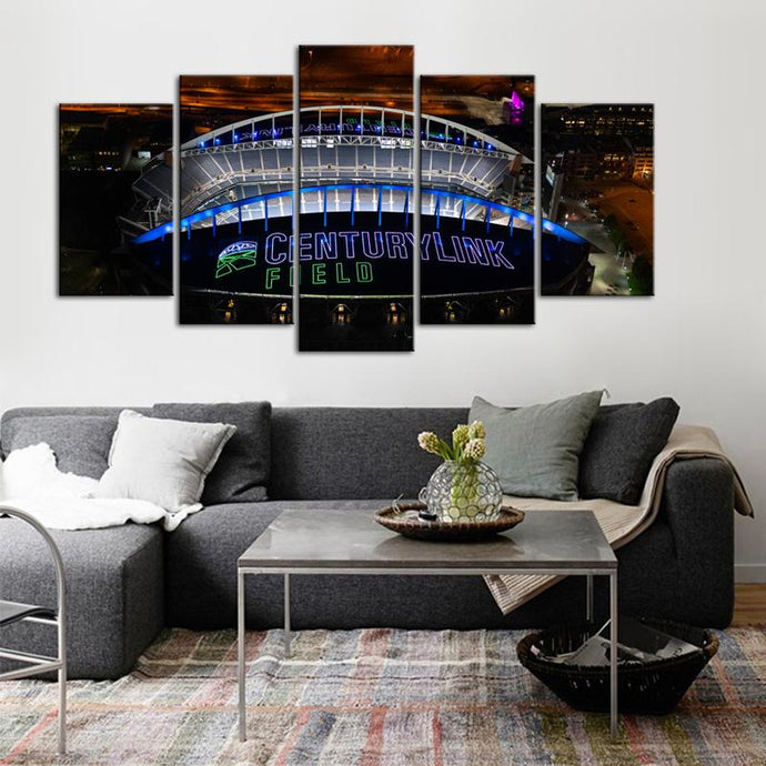 Seattle Sea Hawks Stadium 5 Pieces Wall Painting Canvas