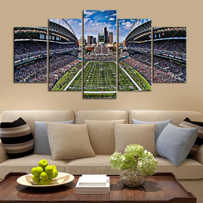 Seattle Sea Hawks Stadium Canvas 5
