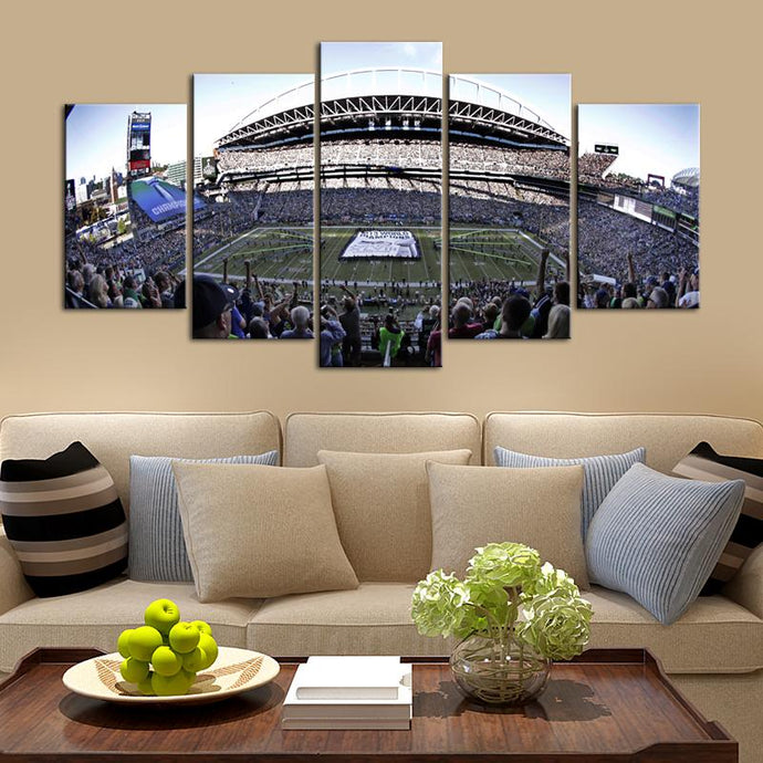 Seattle Sea Hawks Stadium Canvas 4