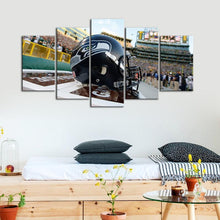 Load image into Gallery viewer, Seattle Sea Hawks Helmet 5 Pieces Wall Painting Canvas