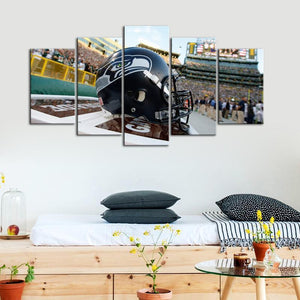 Seattle Sea Hawks Helmet 5 Pieces Wall Painting Canvas