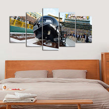 Load image into Gallery viewer, Seattle Sea Hawks Helmet Canvas
