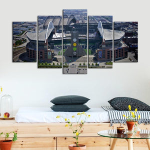 Seattle Sea Hawks Stadium Canvas 1