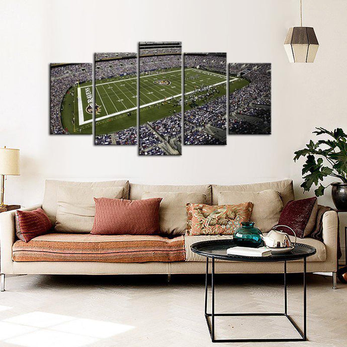 Baltimore Ravens Stadium 5 Pieces Wall Painting Canvas