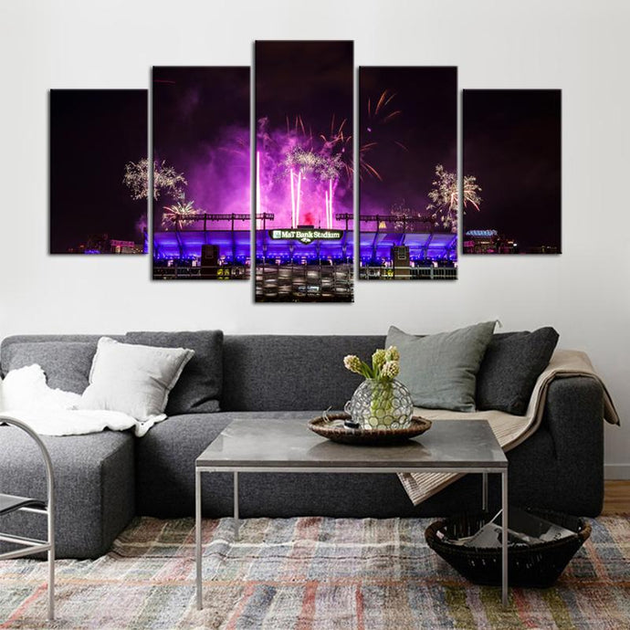 Baltimore Ravens Stadium Celebration Canvas