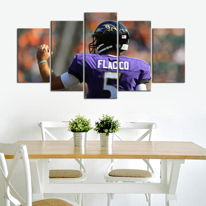 Joe Flacco Baltimore Ravens Canvas 2
