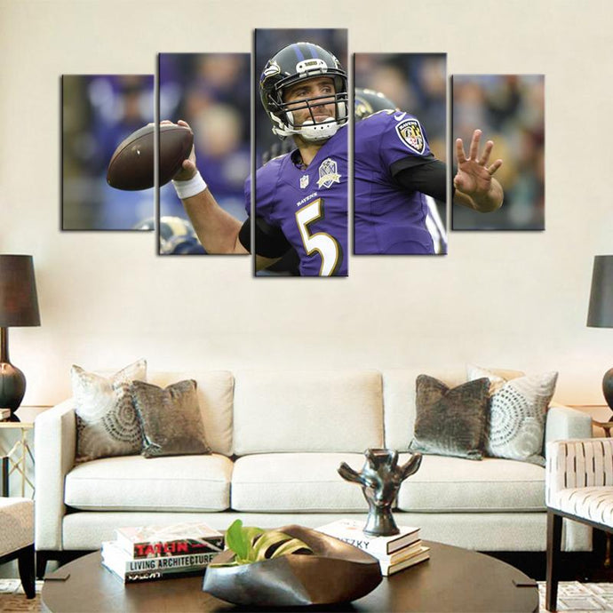 Joe Flacco Baltimore Ravens Canvas 3