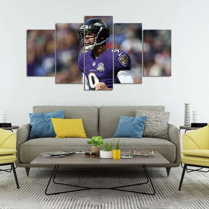 Justin Tucker Baltimore Ravens 5 Pieces Wall Painting Canvas