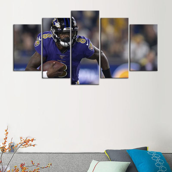Lamar Jackson Baltimore Ravens Canvas 2