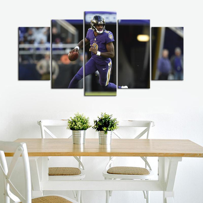 Lamar Jackson Baltimore Ravens Canvas 3