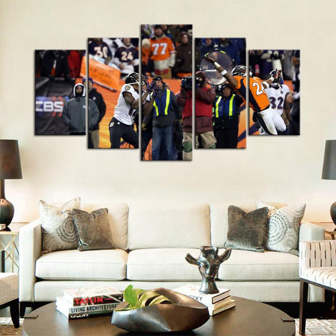 Baltimore Ravens Mile High Miracle 5 Pieces Wall Painting Canvas