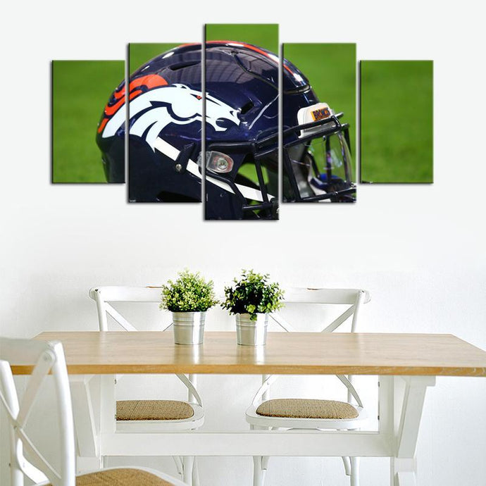 Denver Broncos Helmet 5 Pieces Wall Painting Canvas