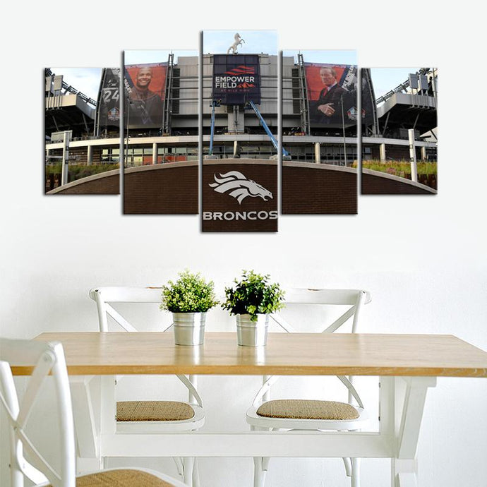 Denver Broncos Empower Filed Canvas