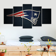 Load image into Gallery viewer, New England Patriots Paint Stroke 5 Pieces Wall Painting Canvas