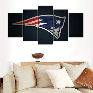 New England Patriots Paint Stroke Canvas