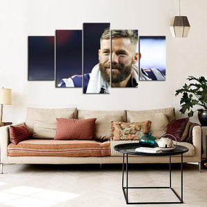 Julian Edelman New England Patriots 5 Pieces Wall Painting Canvas
