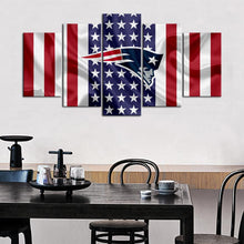 Load image into Gallery viewer, New England Patriots American Flag Canvas