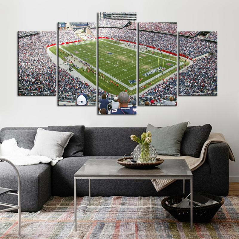 New England Patriots Stadium 5 Pieces Wall Painting Canvas
