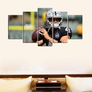 Derek Carr Las Vegas Raiders Canvas