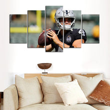 Load image into Gallery viewer, Derek Carr Oakland Raiders 5 Pieces wall Painting Canvas