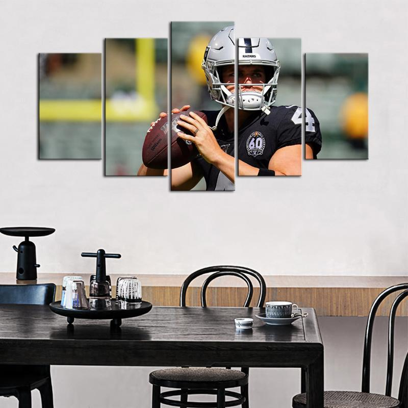 Derek Carr Oakland Raiders 5 Pieces wall Painting Canvas