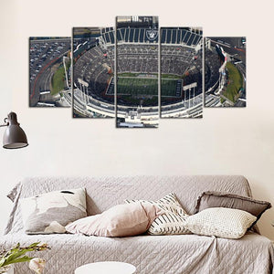 Oakland Raiders Sky View Stadium 5 Pieces wall Painting Canvas