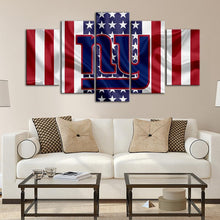Load image into Gallery viewer, New York Giants American Flag Look Canvas