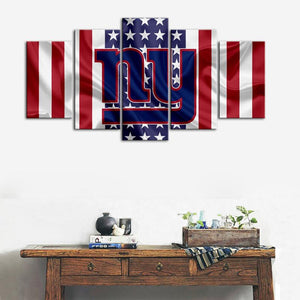 New York Giants American Flag Look Canvas