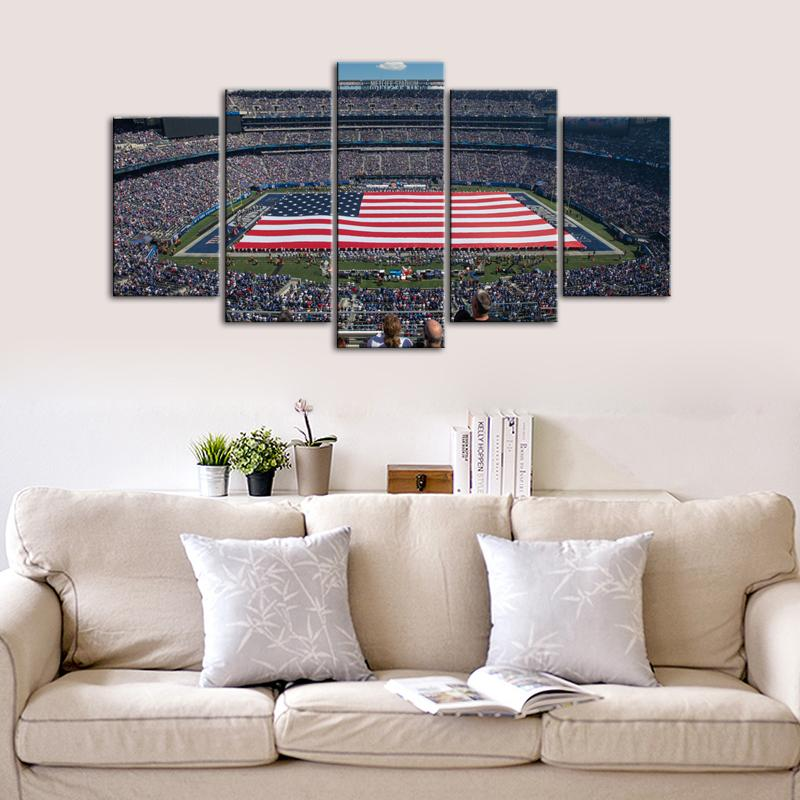 New York Giants Paint Stadium 5 Pieces Wall Painting Canvas-7