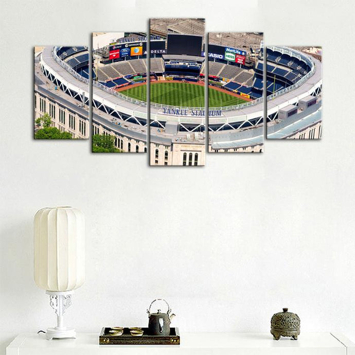 New York Yankees Areal View Stadium Canvas 4