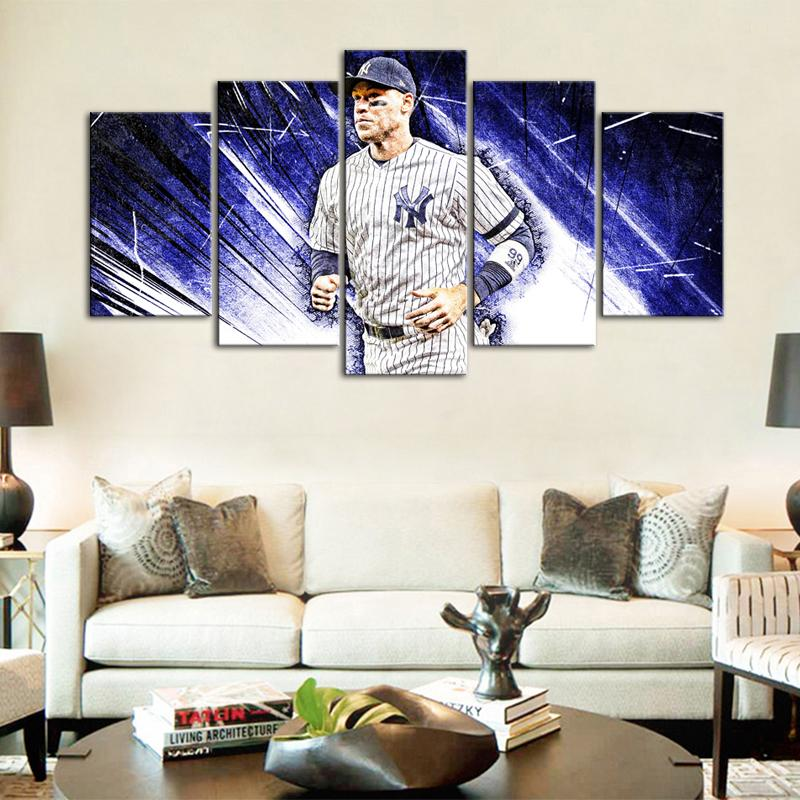 Aaron Judge New York Yankees Canvas 5 Pieces Wall Painting Canvas